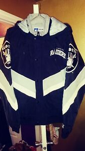 Los Angeles Raiders Throwback Ski Parka Starter Jacket Large New! NFL