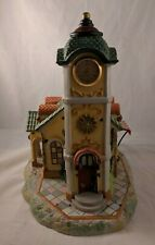 "PartyLite Clock Tower Tealite Candle House 11"" Tall Olde World Village *Broken*"