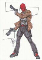 DC Comics RED HOOD Original Art JOKER BATMAN ROBIN HARLEY QUINN CATWOMAN GOTHAM