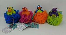 Razz Bathtub Rascals Net Sponges Lot Of 4 Kids Monster Ducks Nwt