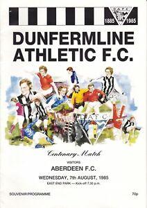 Dunfermline v Aberdeen 7 Aug 1985