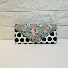 More details for disney boutique minnie mouse polka dots floral wallet bnwt very rare