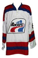 Any Name Number Indianapolis Racers Retro Custom Hockey Jersey Messier White