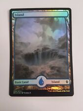 Island 259/274 - FOIL - Battle For Zendikar (Magic/mtg) Full Art Land