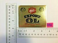VTG NOS MINT ABRO Export OL Klass III Beer Bier Bier BREWERY BOTTLE LABEL