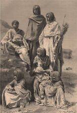 Group of Nubian women. Egypt Sudan 1885 old antique vintage print picture