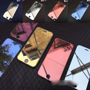 Luxury Colorful Mirror Tempered Glass Screen Protector For iPhone X 6 7 8 Plus