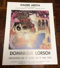 Vintage Poster From The 1978 Dominique Lorsch Exhibition In Paris