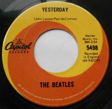 CANADA!!! THE BEATLES Yesterday / Act Naturally 1965 1st Press CAPITOL 5498 45