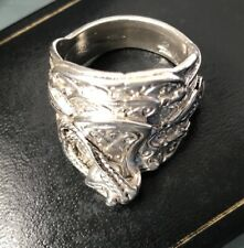 SILVER SADDLE STYLE Ring Size Z Weight 19.8g FULLY HALLMARKED Quality HEAVY