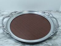 VINTAGE Beauty Formica Laminated Plastic Serving Tray w/ Handles Mid Century