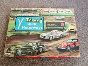 Triang MINIC Motorways Vintage Racing Set Game M/1521 - 1960s - Rare & complete!