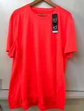 Id Ideology Men's Core Tee Crew Neck Mesh-Back T-Shirt Orange Lava Xl Nwt