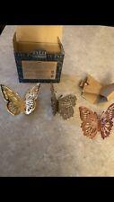 Partylite Fluttering Butterflies Magnet Trio Nib! P93261