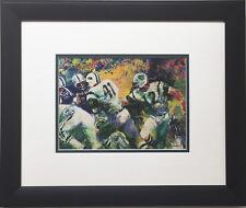 "LeRoy Neiman ""Handoff Super Bowl III"" CUSTOM FRAMED  NY JETS Broadway Joe NAMATH"
