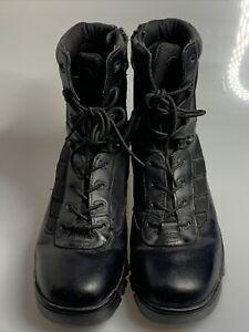 Bates E02261 Mens Tactical Sport Side Zip Black Boots Size 11