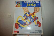 BOITE JUNIOR 1102 MECCANO N° 2 JEU DE CONSTRUCTION PLASTIQUE VINTAGE