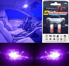LED 5050 Light Purple 12000K 194 Two Bulb License Plate Tag Replace Fit SMD JDM