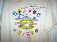 Yesterday's Negro League Baseball Players HOF T-Shirt Autographed by 8 Players
