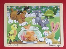 Melissa & Doug Fresh Start 12-Piece Wooden Jigsaw Puzzle- Playful Pets HandCraft
