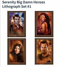 """-= Serenity/Firefly """"Big Damn Heroes� Lithograph Set (4 posters) Rare! =-"""