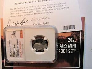 2020 W NICKEL NGC PF 70 ULTRA CAMEO ATLANTA  ANA RELEASE-DAVID J  RYDER SIGNED