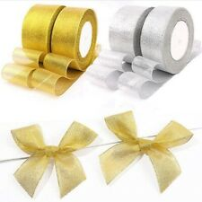 25yards Organza Ribbon DIY Handicraft Christmas Wedding Gifts Decor Accessories