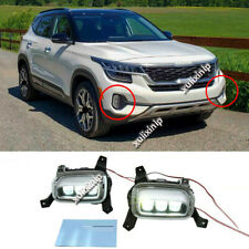 For Korea Version KIA SELTOS 2021 LED Front Bumper Fog Light Assembly 2pcs