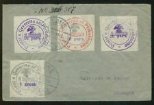 Albania Albanien 1913 Circular Handstamps Registered Cover to Germany