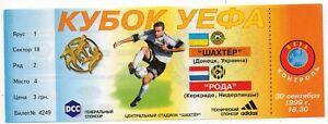 Ticket EC Schachtjor Donezk - Roda Kerkrade 1999/00