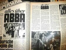 Seltener Bericht  Abba wow rar kein Poster  ( Alles über Abba ) Folge 2 70er