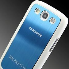 For Samsung Galaxy S3 III Stylish Brushed Metal Aluminium Case Cover