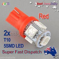 LED 2x T10 Red 5SMD 5050 for Car Side Lights Parker Bulbs Lamps DC 12V