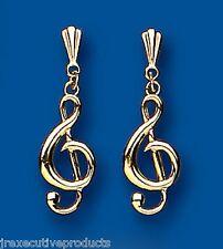 Violinschlüssel Ohrringe Musik Ohrringe Gelbgold Ohrhänger
