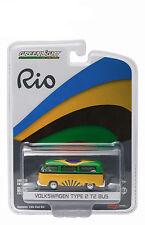 NEW GREENLIGHT 1:64 RIO WORLD GAMES - 1968 VOLKSWAGEN TYPE 2 BUS - BRAZIL 51037B