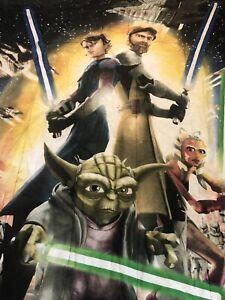 Star Wars The Clone Wars Twin Size Reversible Comforter Yoda Anakin Obi Wan