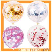 Konfetti Luftballons Gold Silber Pink Set Ballons Party Geburtstag Helium JGA
