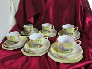ANTIQUE NORITAKE 6 SETTING TEA SET CIRCA 1935