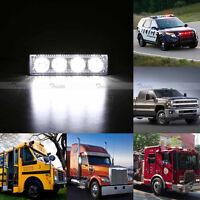 2x Car Truck 4 LED Emergency Beacon Light Bar Hazard Strobe Warning White Amber