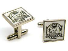Masonic Floor Eye Arch Regalia Cufflinks Mens Gents Badge in Gift Pouch