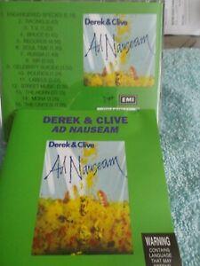 DEREK & CLIVE - AD NAUSEAM - OZ 15 TRK CD - LIKE NEW - PETER COOK - DUDLEY MOORE