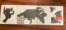 $60 Pottery Barn Teen Umbra Mappit Magnet Wall Decor Steel World Map - Black New