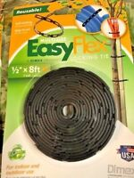 """Garden Collection easy flex locking ties 1/2"""" x 8 ft new in pack"""