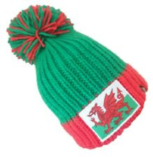 Wales Knitted Bobble Hat by Karma Rugby.  Football.