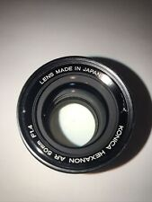 New listing Konica Hexanon Ar 50mm f1.4 55mm Accessory Size Very Clean