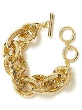 Banana Republic Glimmer Glamour Statement Toggle Bracelet GOLD NIP $79.50
