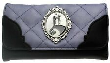 Nightmare Before Christmas Jack & Sally Purple & Black Hand Purse Clutch Wallet