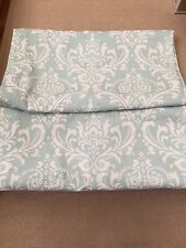 Gorgeous Custom Aqua and White Curtains, 2 panels.  Excellent Condition!