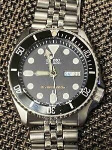 Seiko Modified Diver SKX007 Navy Boy Automatic Mens Watch Authentic Working
