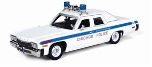 AUTO WORLD AWR1142 DODGE MONACO CHICAGO Police Car resin model 1974 1:43